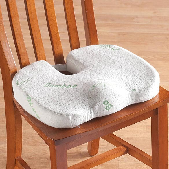 Bamboo Seat Cushion Memory Foam Seat Cushion Easy Comforts