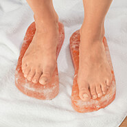Healthy New Year - Himalayan Salt Detox Blocks for Feet, 1 Pair