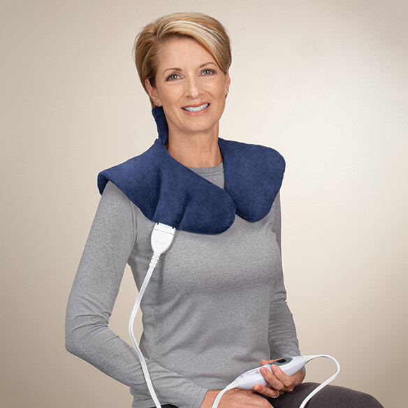 Plush Heating Pad Wrap for Shoulders & Neck