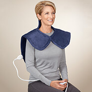 Arthritis Relief & Aids - Plush Heating Pad Wrap for Shoulders, Neck, & Back