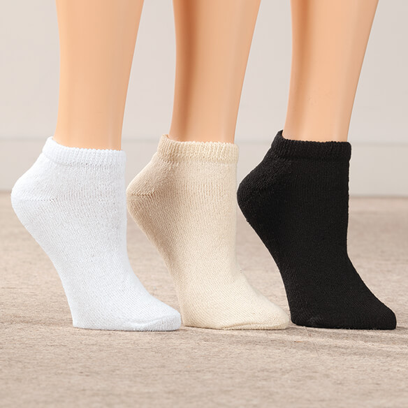 Silver Steps™ 3 Pack Low-Cut Diabetic Socks