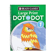 Hobbies & Books - Brain Games® Large Print Dot to Dot Version 1 Owl Cover