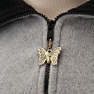 Clearance - Zipper Pull Butterfly Gold