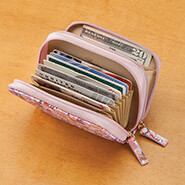 New - Buxton RFID Floral Accordion Wallet