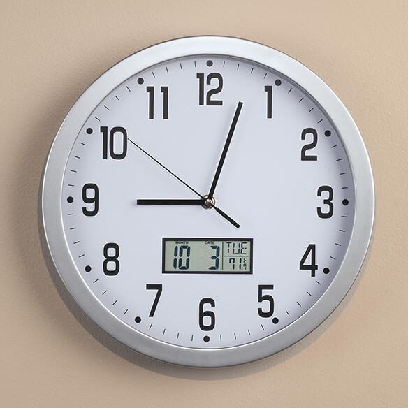 "Easy-Read 12"" Multifunction Wall Clock"