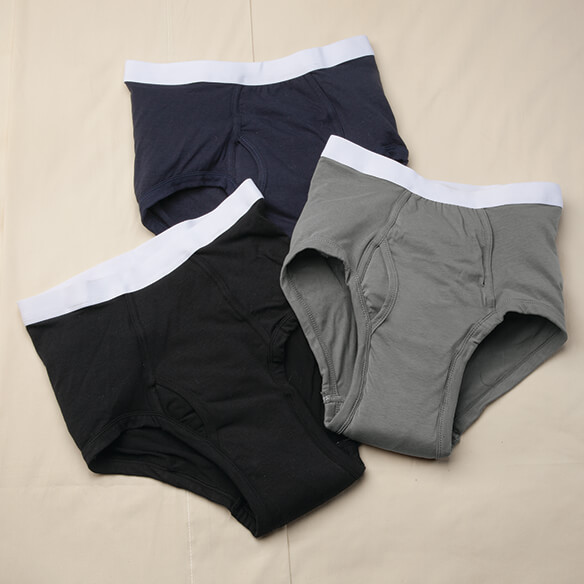 Men's 20 oz. Incontinence Briefs 3 pack Assorted Colors - View 1