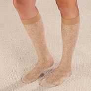Proudly Made in the U.S.A. - Celeste Stein Lace Compression Socks, 8-15 mmHg