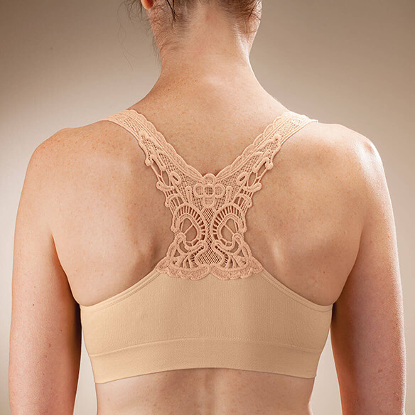 Seamless Lace Racerback Bra - View 1