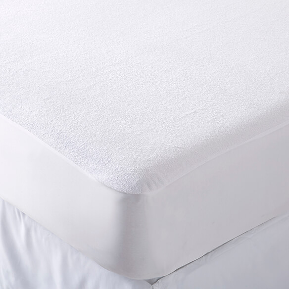 Cotton Terry Crib Mattress Protector - View 1