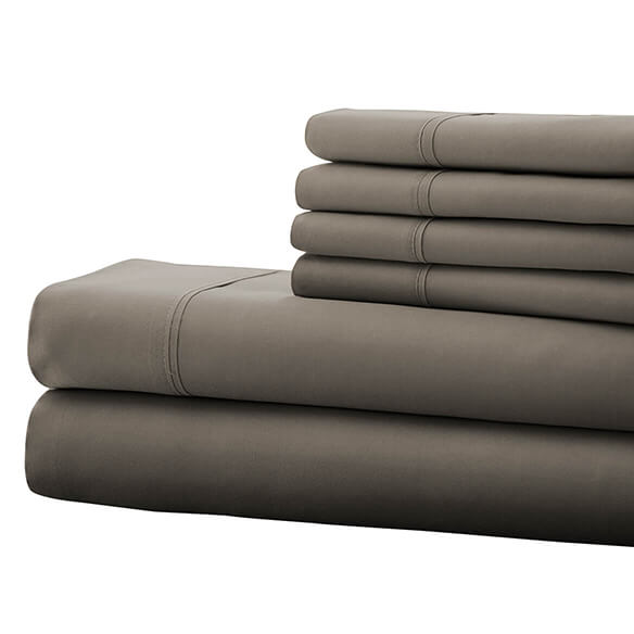 Hotel 5th Ave. 90GSM 6pc Microfiber Sheets, Gray