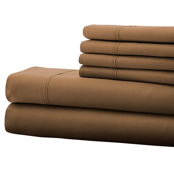 Hotel 5th Ave. 90GSM 6pc Microfiber Sheets, Taupe