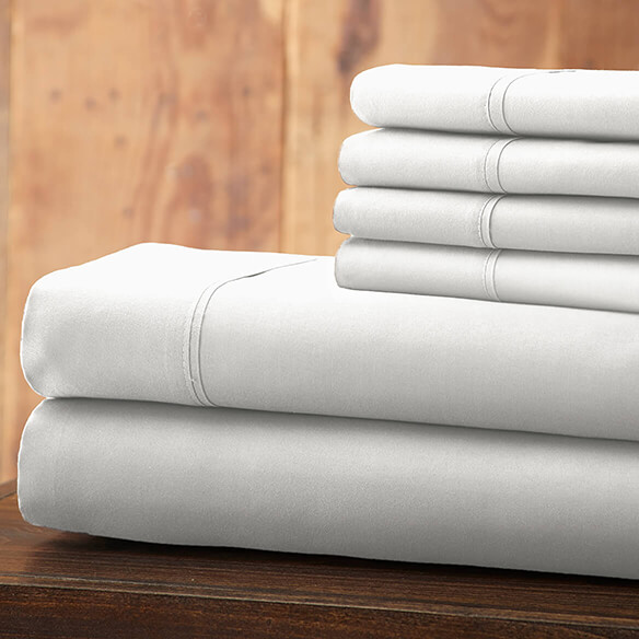 Hotel 5th Ave Solid Color Microfiber Sheet Set, White