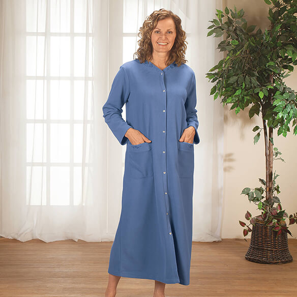 Fleece Snap Front Robe by Sawyer Creek