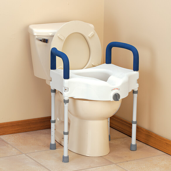 bariatric raised toilet seat with arms toilet riser easy comforts. Black Bedroom Furniture Sets. Home Design Ideas