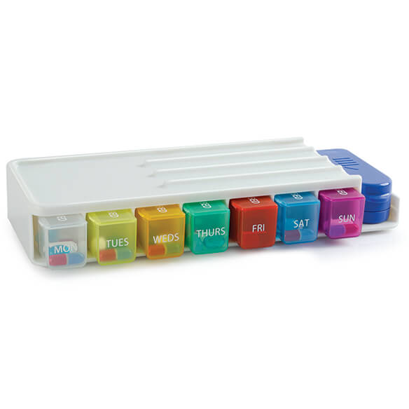 Weekly Pill Sorter & Organizer with Cutter