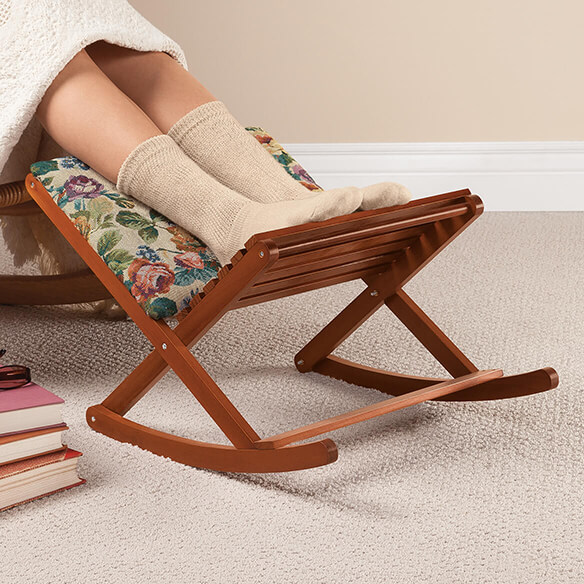 Deluxe Foldable Rocking Footrest
