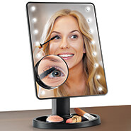 New - Light-Up Makeup Mirror with 10x Magnifier