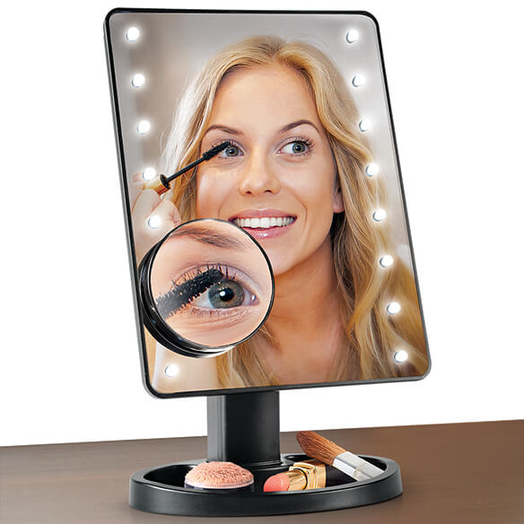 Light-Up Makeup Mirror with 10x Magnifier