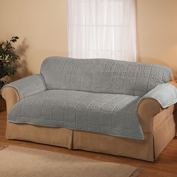 Parker Water-Resistant Sherpa Loveseat Cover by OakRidge™ - View 1