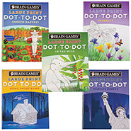 Hobbies & Books - Brain Games® Large Print Dot-to-Dot Puzzle Books, Set of 5