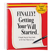 Hobbies & Books - Finally! Getting Your Will Started