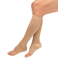New - Silver Steps™ Anti-Embolism Knee High Open Toe Socks