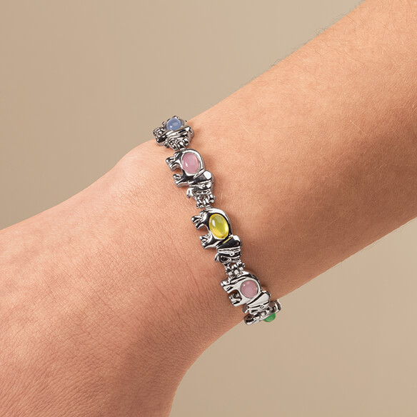 Magnetic Multi Colored Elephant Bracelet