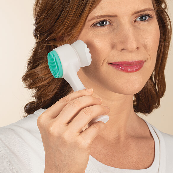 Dual-Action Facial Cleansing Brush