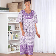 Apparel - Lavender Border Snap-Front Lounger by Sawyer Creek Studio™