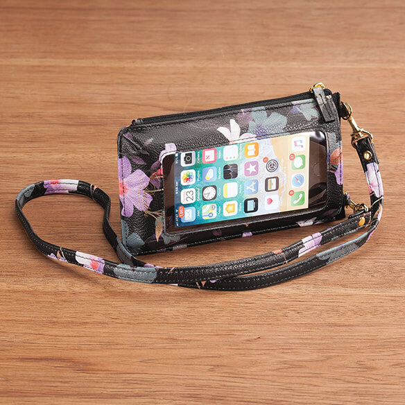 Buxton® Cellphone Window Floral Lanyard