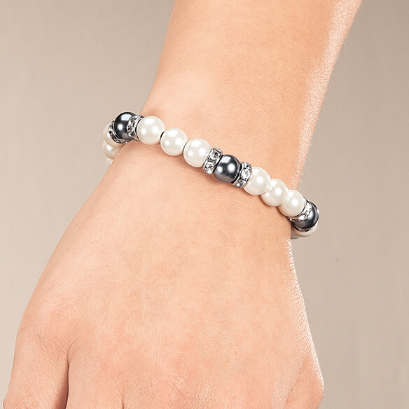 Magnetic Hematite Stretch Bracelet