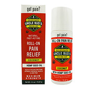 New - Uncle Bud's Pain Relieving Roll-On with Pure Hemp Seed Oil