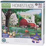 New - Homesteads Spring Morning Puzzle, 300 pieces