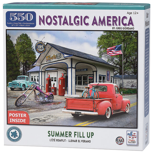 Nostalgic America Summer Fill Up Puzzle, 550 pieces