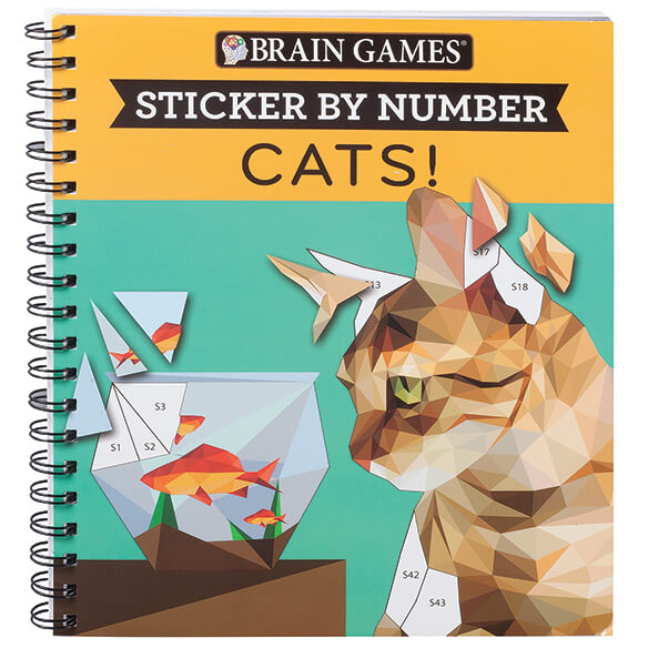 Brain Games® Sticker by Number Cats! Book