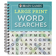 Hobbies & Books - Brain Games® Large Print Word Searches
