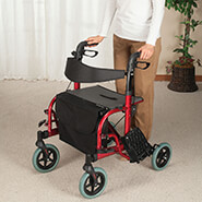New - 2-in-1 Rollator and Transport Chair