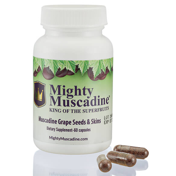 Mighty Muscadine Grape Seeds & Skins Supplement