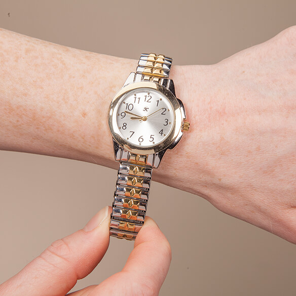 Two-Tone Watch with Stretch Band