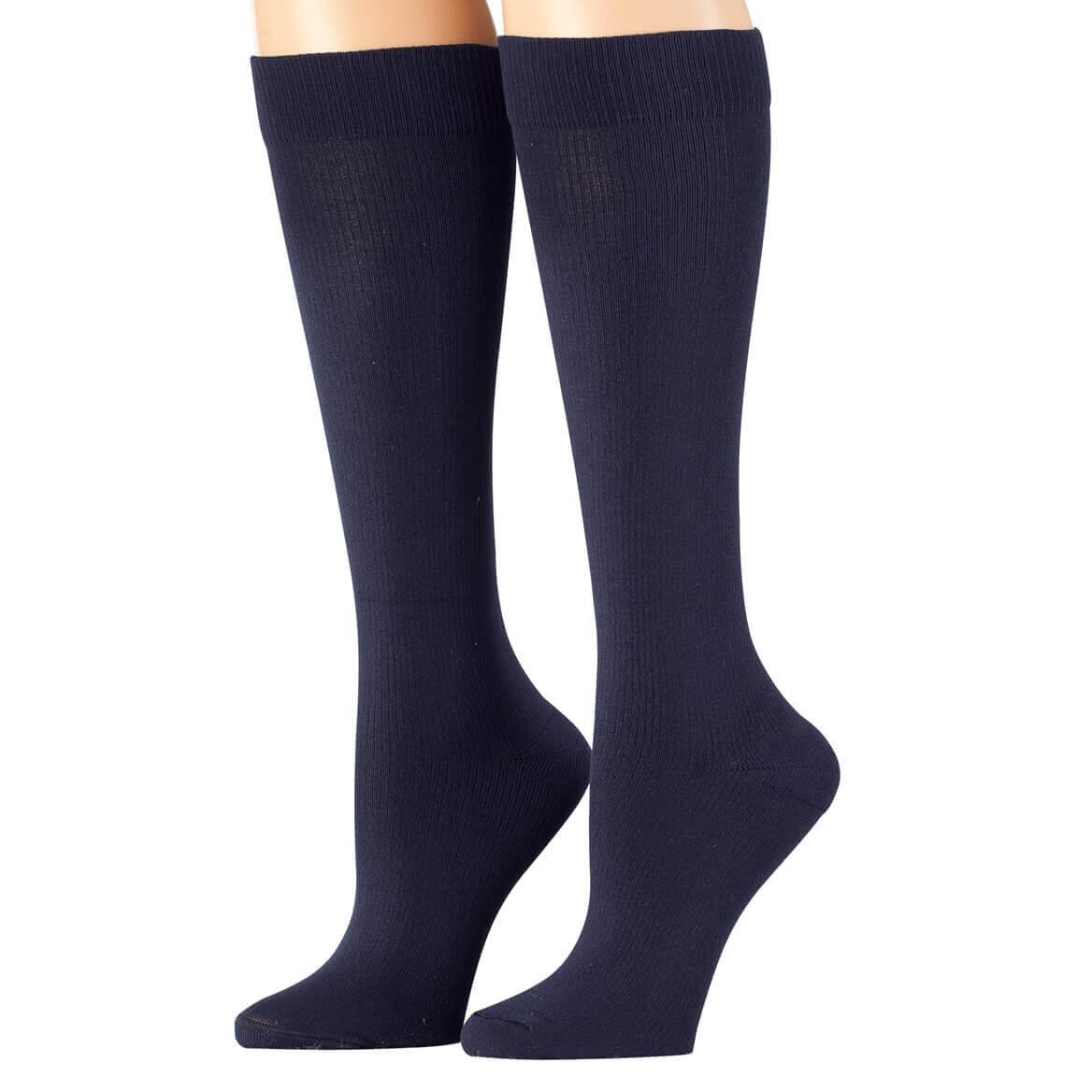 eb363c561c Details about Healthy Steps Compression Socks 15-20 mmHg, Navy Blue, SM